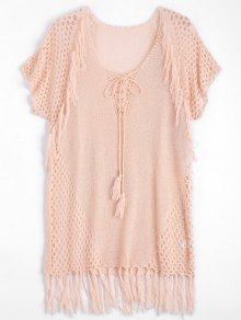 Relaxed Sheer Beach Tunic Cover Up Dress