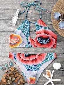 Keyhole Halter Bikini Top and Bottoms