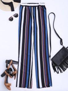 Striped Straight Cut Flowy Pants