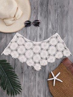 Tube Sun Flower Crochet Cover Up Top - Blanc Cassé