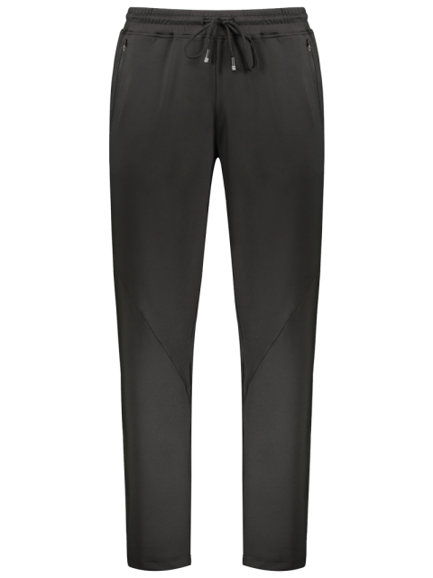 latest Zipper Pocket Drawstring Sweatpants - BLACK 2XL Mobile