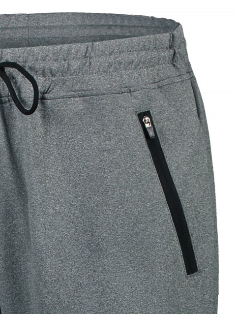online Drawstring Sweatpants with Zip Pocket - GRAY M Mobile