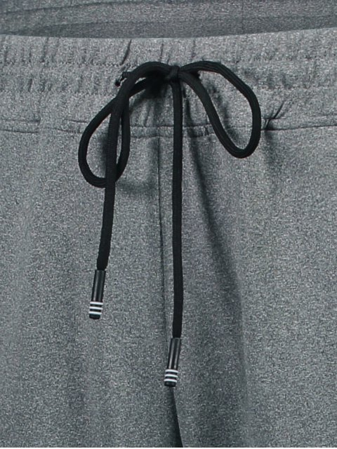 hot Drawstring Sweatpants with Zip Pocket - GRAY XL Mobile