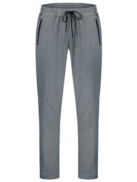 outfit Drawstring Sweatpants with Zip Pocket - GRAY 2XL Mobile
