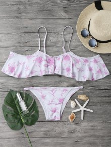 Off The Shoulder V String Bikini Set