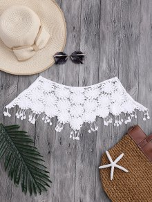 Tassels Tube Crochet Cover Up Top
