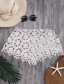 Tube Laser Cut Crochet Cover Up Top