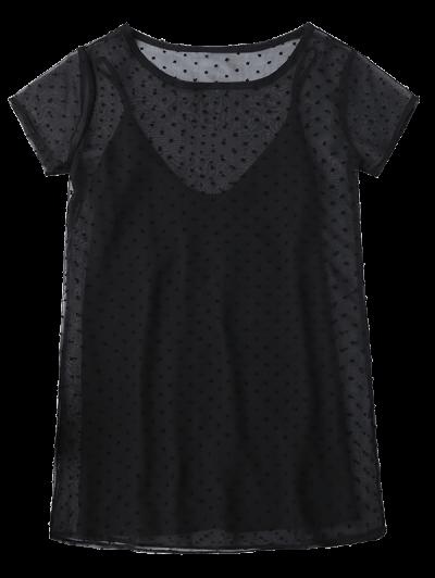 Sheer Mesh Dress and Slip Dress Set от Zaful.com INT