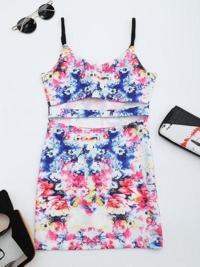 Zaful Printed Cut Out Cami Dress