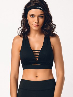 Cross Back Ladder Cut Padded Sporty Bra