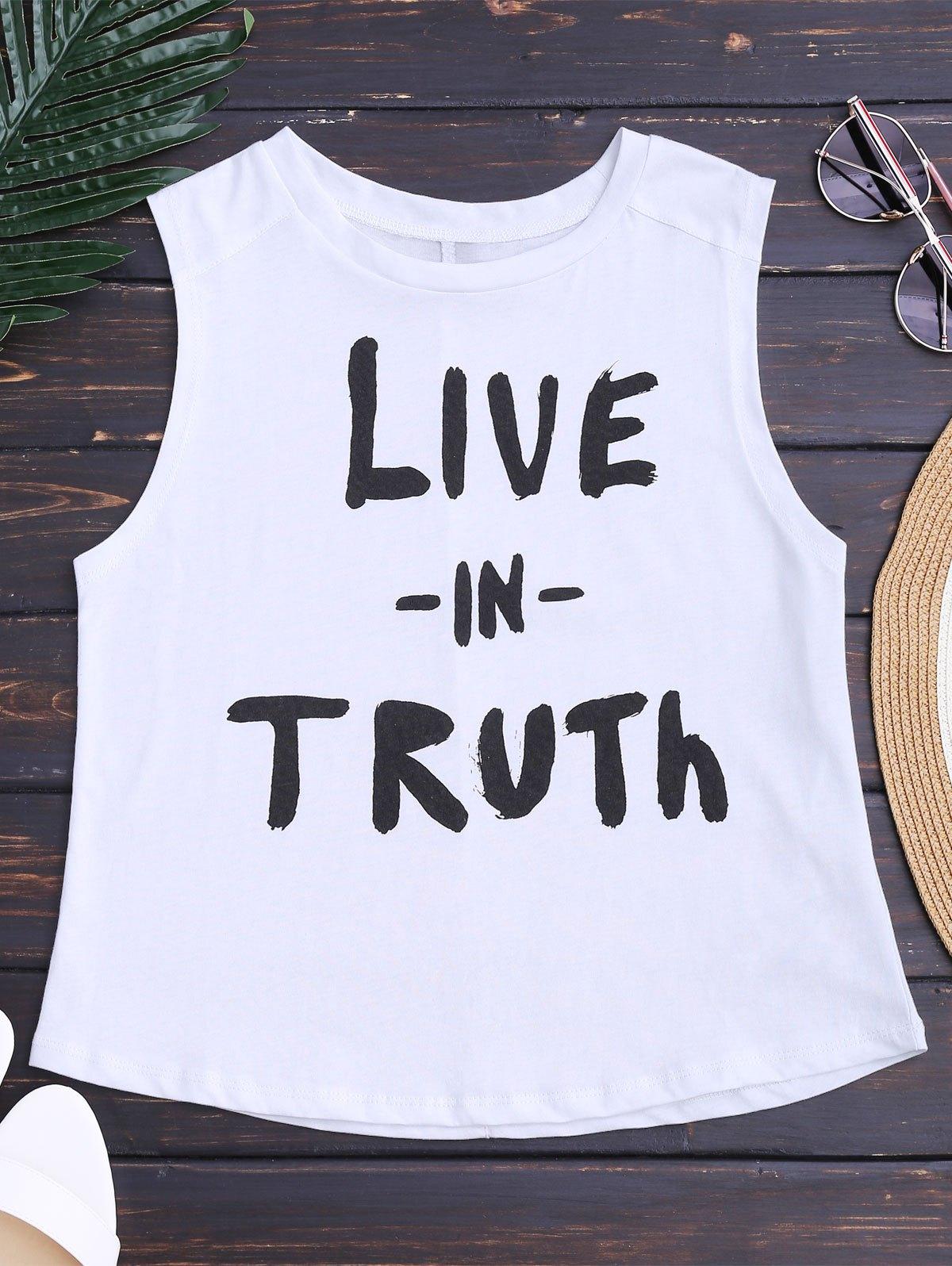 Streetwear Letter Sleeveless T-Shirt от Zaful.com INT