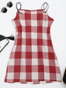 Checked Cami Shift Dress