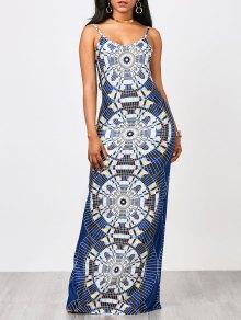 Geo Print Maxi Slip Dress