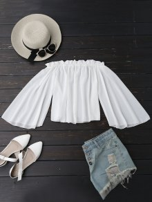 Chiffon Off The Shoulder Ruffles Blouse