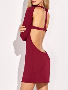 Long Sleeve Backless Bodycon Dress