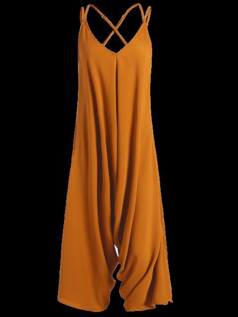 new Crosscriss Asymmetric Chiffon Jumpsuit - GINGER L Mobile