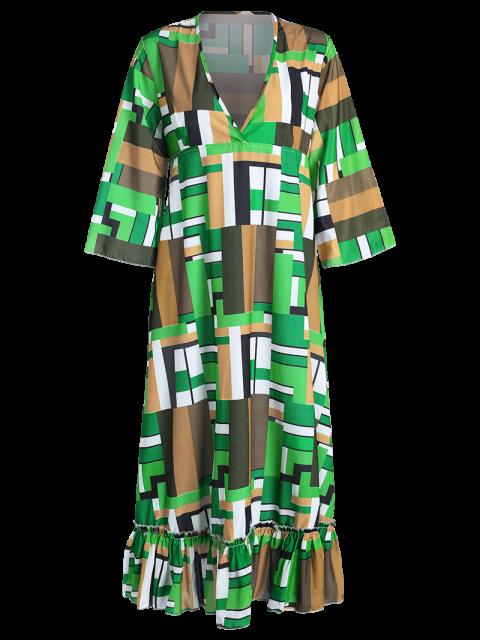 best Ruffle Swingy Midi Dress - COLORMIX S Mobile