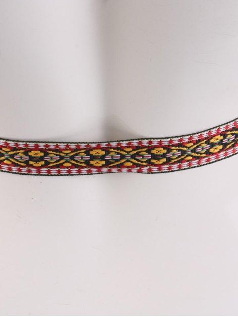 online Ethnic Retro Woven Fringed Waist Strap - BROWN  Mobile