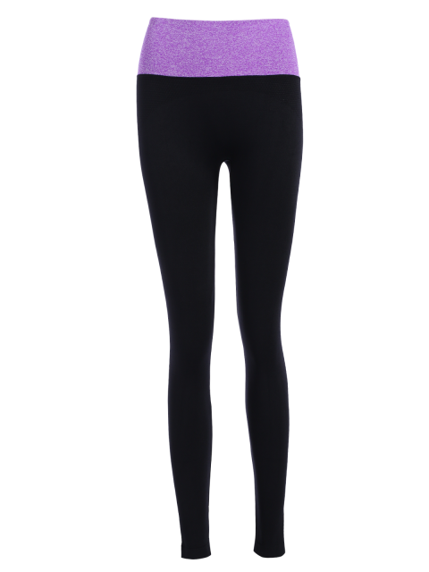 buy Stretchy Yoga Leggings - PURPLE L Mobile