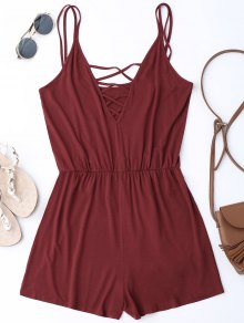 Strappy Criss Cross Cotton Romper