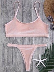 V String Thong Bralette Bikini Set