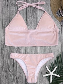 Longline Bikini Top and High Leg Bottoms