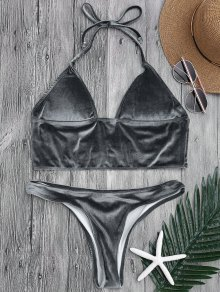 Longline Bikini Top and High Leg Bottoms
