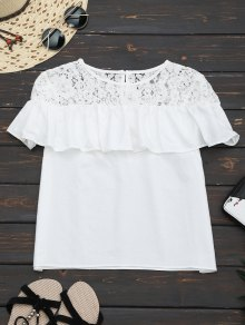 Ruffles Lace Panel Top