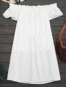 Mini Casual Ruffles Off Shoulder Dress