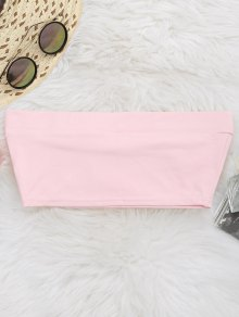 Elastic Cotton Tube Top - Pink S