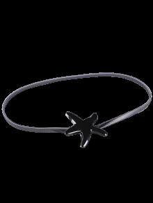 Plated Metal Starfish Buckle Coat Belt