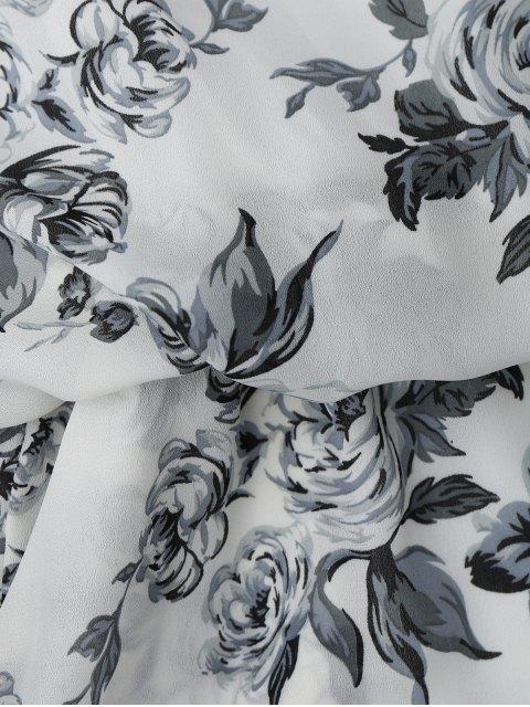 new Floral Print Cami Romper - WHITE S Mobile