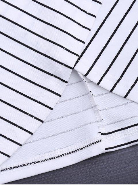 new Round Collar Sleeveless Striped Dress - STRIPE S Mobile