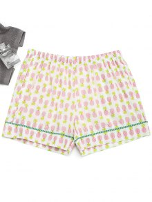Pockets Pineapple Loungewear Shorts