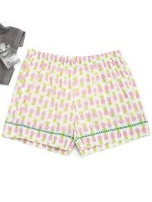 Pockets Pineapple Loungewear Shorts