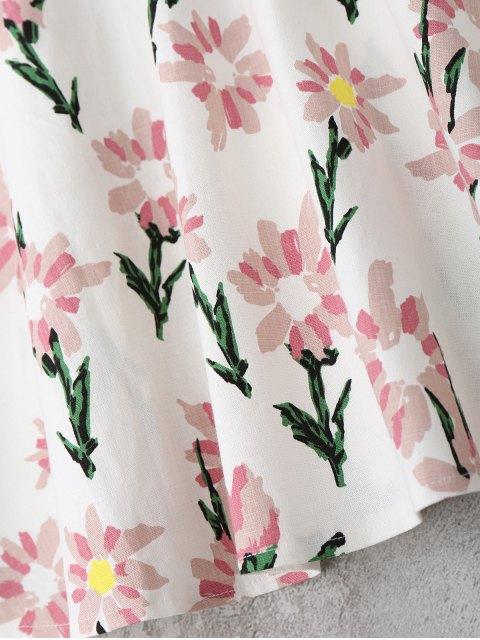 buy Floral Print Ruffle Hem Cami Dress - FLORAL XL Mobile