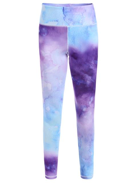 shops Ombre Tie-Dyed Yoga Leggings - COLORMIX L Mobile
