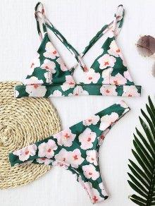 Floral Padded Cross Back Bikini