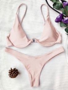 Push Up Plunge Bathing Suit - Pink S