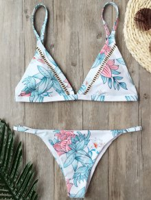 Padded Cami Floral Thong Bathing Suit
