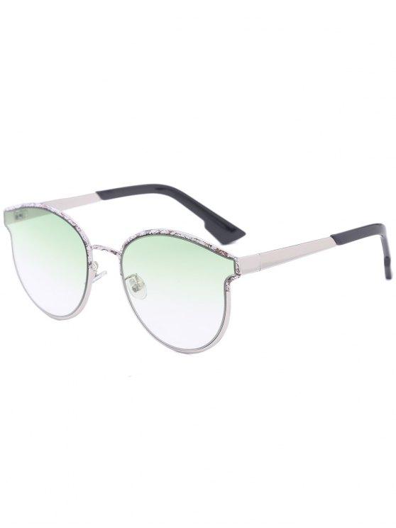 Mariposa mariposa marco empalmados gafas de sol - Verde