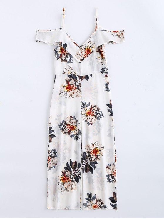 new Floral Print Flounce Cami Jumpsuit - FLORAL XL