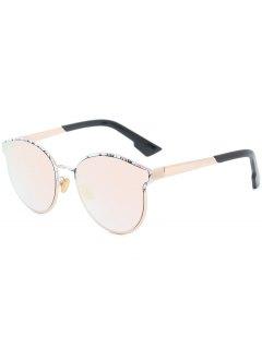 فراشة بيبالد الإطار تقسم النظارات الشمسية - باربي الوردي