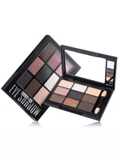 9 Colors Eyeshadow Palette With Brush - #04