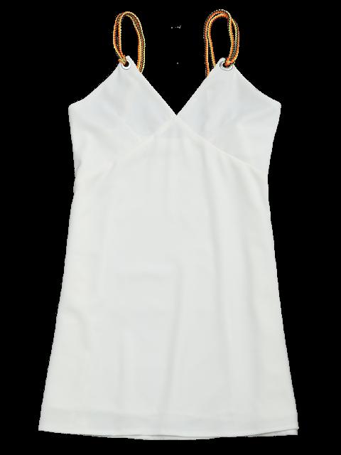 online Braided Straps Mini Slip Dress - WHITE S Mobile