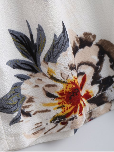 new Floral Print Flounce Cami Jumpsuit - FLORAL XL Mobile