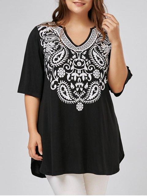 T-shirt à manches longues - Noir XL Mobile