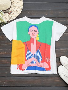 Cotton Figure Graphic T-Shirt
