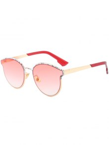 Butterfly Piebald Frame Spliced Sunglasses - Wine Red