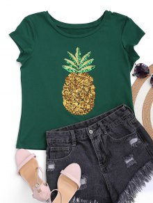 Cotton Pineapple Sequins Top
